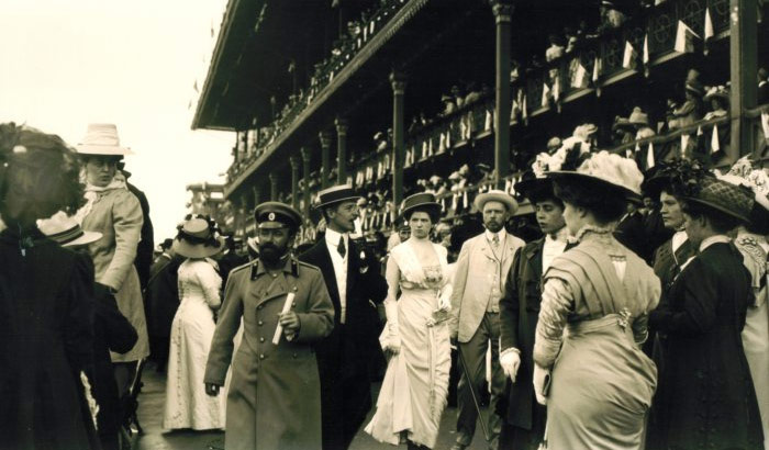 Murray Howe, At the Moscow Racetrack, 1909, Sepia-toned Gelatin Silver Print